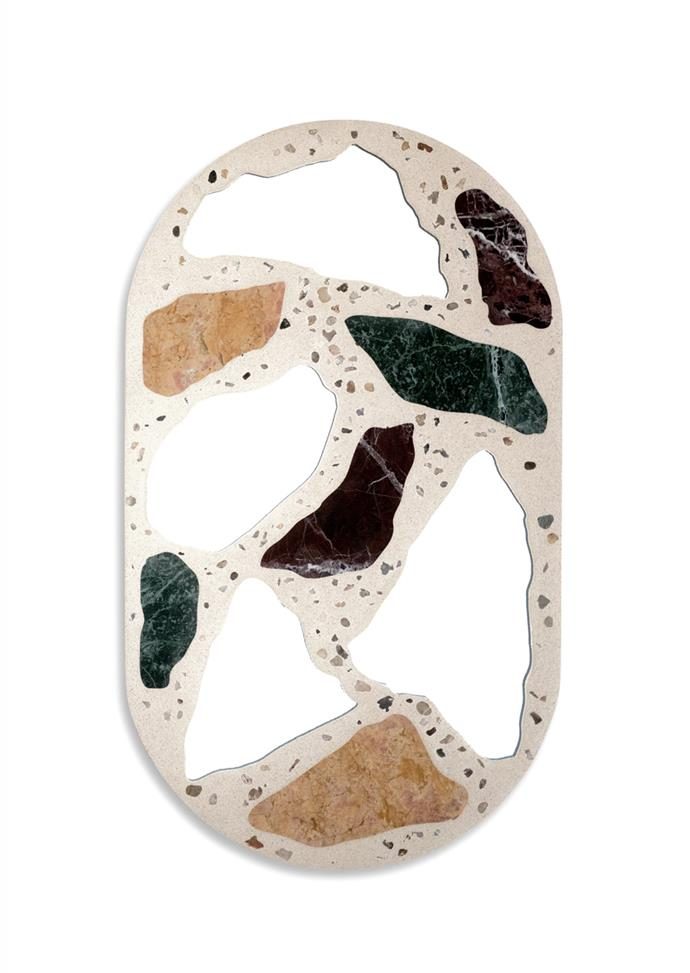 """**Trueing mirror** Brooklyn-based design brand Trueing blends old-school materials with new-age tech. The 3000 mirror riffs on traditional terrazzo flooring, by combining concrete, marble and mirror. [modaoperandi.com](https://www.modaoperandi.com/trueing-ss19/3000-mirror?size=OS