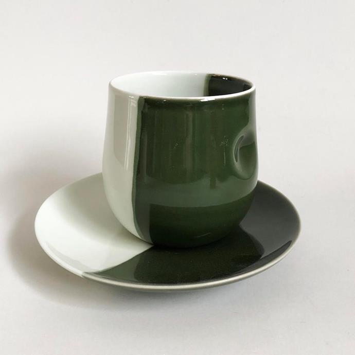 """**Milly Dent Sora cup and saucer set** Sydney-based ceramist Milly Dent is inspired by the natural world; her home and kitchenware pieces feature inky blue whirlpools and patches of forest greens. There's more beauty in the idiosyncrasies — this set features an off-centre saucer, while the cup is imprinted with a finger dimple. [store.mcs.com.au](https://store.mca.com.au/products/sora-cup-saucer-set-half-dip-green