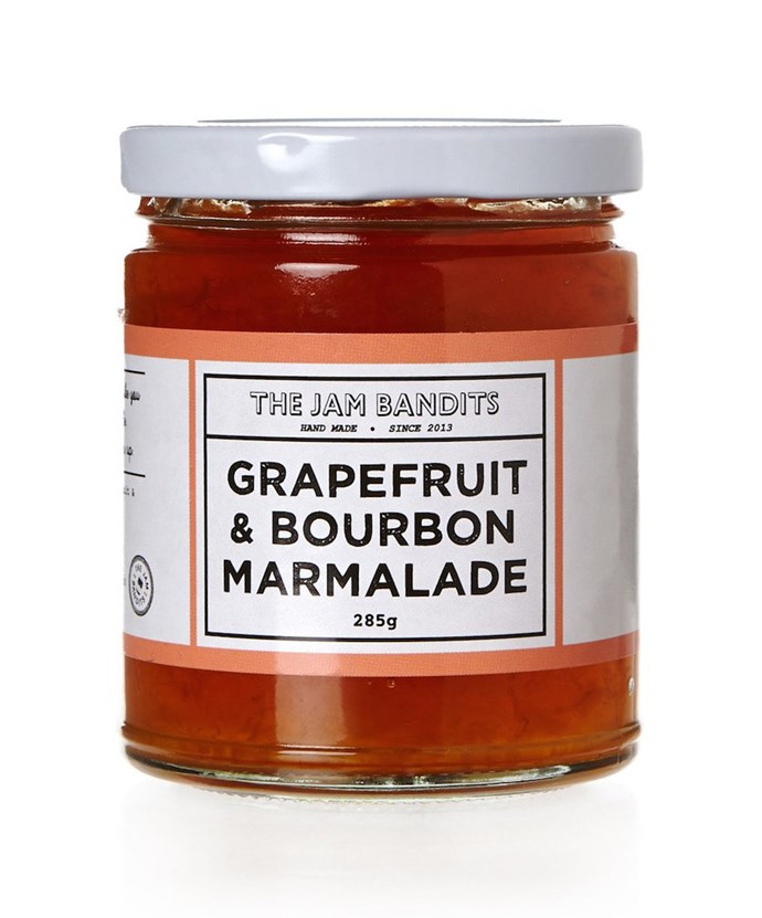 "**The Jam Bandits grapefruit and bourbon marmalade** It's jam, all grown up. Surry Hills small-batch jam makers, The Jam Bandits, produce fruit preserves with surprising flavour combinations. Grapefruit and bourbon? Yes please. It's bitter, tangy and curiously more-ish. [the-esteemed.com.au](https://the-esteemed.com.au/products/the-jam-bandits-grapefruit-and-bourbon-marmalade|target=""_blank""