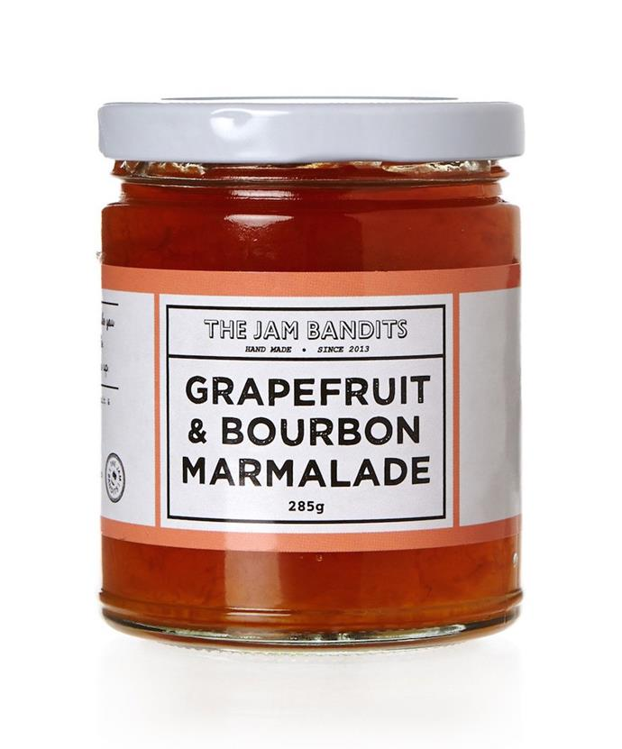 """**The Jam Bandits grapefruit and bourbon marmalade** It's jam, all grown up. Surry Hills small-batch jam makers, The Jam Bandits, produce fruit preserves with surprising flavour combinations. Grapefruit and bourbon? Yes please. It's bitter, tangy and curiously more-ish. [the-esteemed.com.au](https://the-esteemed.com.au/products/the-jam-bandits-grapefruit-and-bourbon-marmalade
