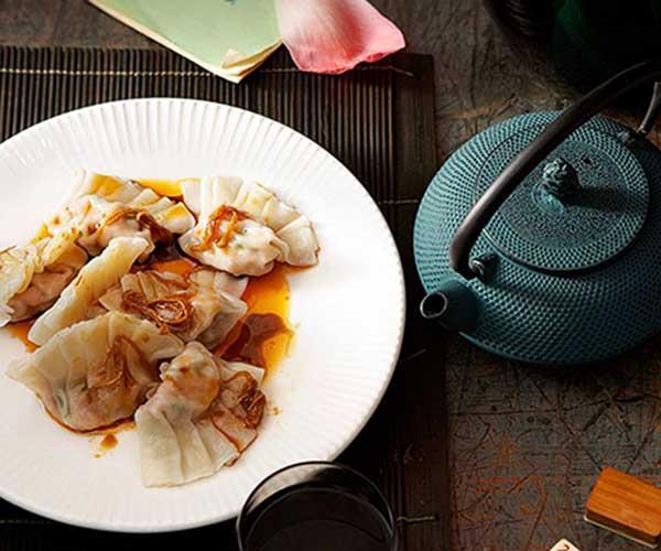 "[Poached pork and garlic chive dumplings (jiu cai jiaozi)](https://www.gourmettraveller.com.au/recipes/chefs-recipes/poached-pork-and-garlic-chive-dumplings-jiu-cai-jiaozi-7335|target=""_blank"")"