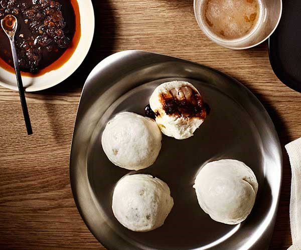 """[Steamed pork dumplings with Shanghai chilli vinegar](https://www.gourmettraveller.com.au/recipes/chefs-recipes/steamed-pork-dumplings-with-shanghai-chilli-vinegar-7765 target=""""_blank"""")"""