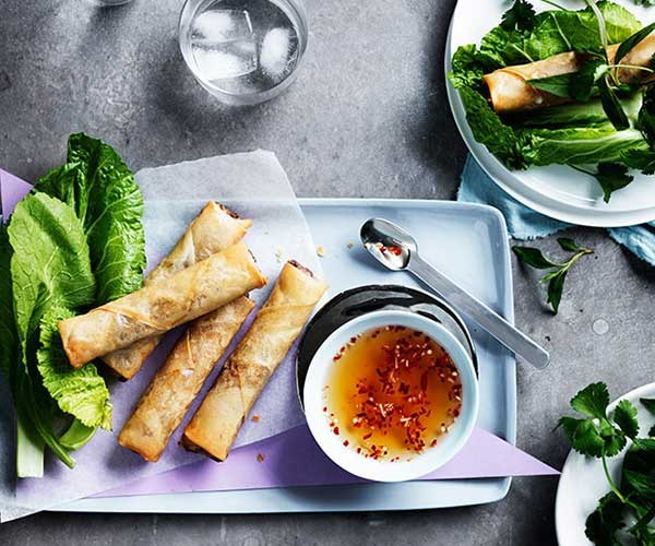 """[Restaurant Anchovy's Vietnamese spring rolls with mustard leaves and herbs](https://www.gourmettraveller.com.au/recipes/chefs-recipes/vietnamese-spring-rolls-with-mustard-leaves-and-herbs-9241