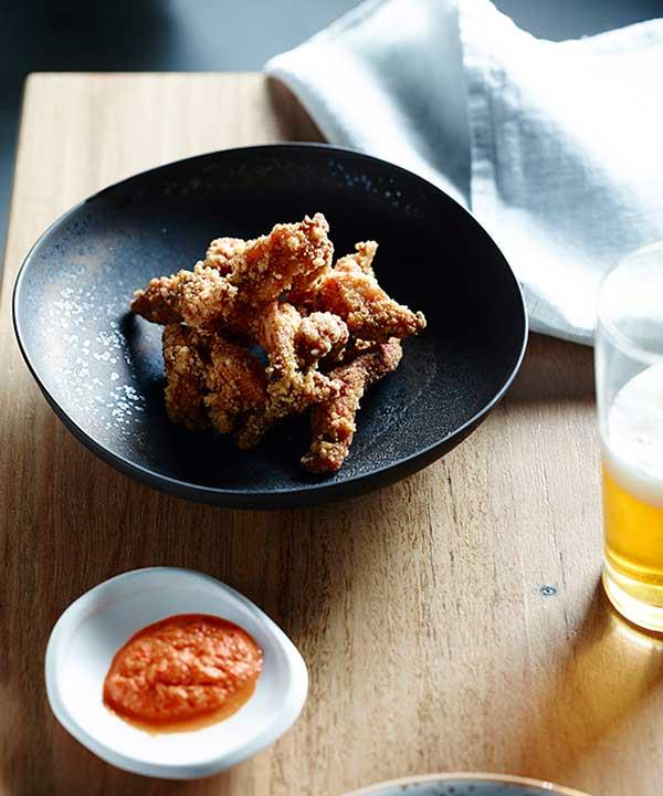 """[Taiwanese fried chicken](http://www.gourmettraveller.com.au/recipes/chefs-recipes/yama-kitchen-and-bars-taiwanese-fried-chicken-8449 target=""""_blank"""")"""