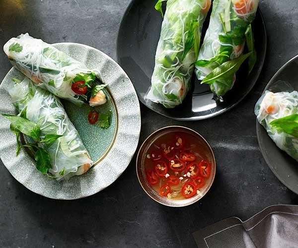 "[Vietnamese rice paper rolls](https://www.gourmettraveller.com.au/recipes/fast-recipes/vietnamese-rice-paper-rolls-13418 target=""_blank"")"