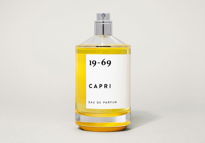 """**19-69 L'Air Barbes Eau de Parfum* With its citrus-fresh scent, this zippy fragrance will transport you to spritz-charged summers in Italy. Inspired by the settings of Villa Malaparte and the iconic film *Le Mépris*, Capri carries notes of sweet and bitter orange, ylang ylang and white musk. Light, edgy and fresh, this is unisex scent can be gifted to your lover... or you. [incu.com](https://www.incu.com/products/19-69-capri-eau-de-parfum
