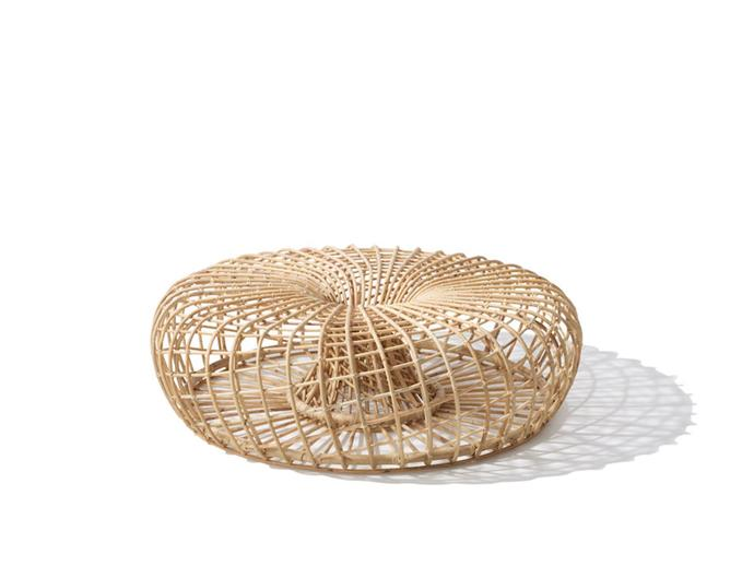 """**Nest footstool** Put your feet up this Valentine's Day.This multi-functional piece by UK boutique furniture brand Nest can be used as a footstool or coffee table. With its sleek curved surfaces and natural rattan construction, it's an elegant addition to your living space. [specifiedstore.com](http://www.specifiedstore.com/furniture/nest-large-footstool