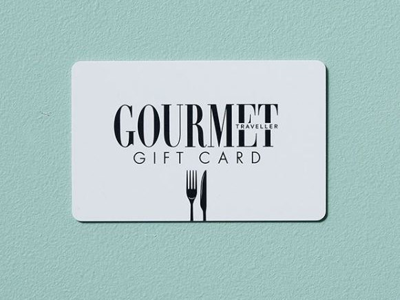 "**Gourmet Traveller Restaurant Gift Card** Impress the gourmand in your life with an unforgettable fine-dining experience. Our *Gourmet Traveller* Restaurant Gift Card will unlock access to more than 200 of Australia's top restaurants, with more added daily. Hand-selected by the *GT* team, you can rest assured your next booking is at a certified culinary destination. [gourmettravellergiftcard.com.au](https://gourmettravellergiftcard.com.au/bauer/web|target=""_blank"")"