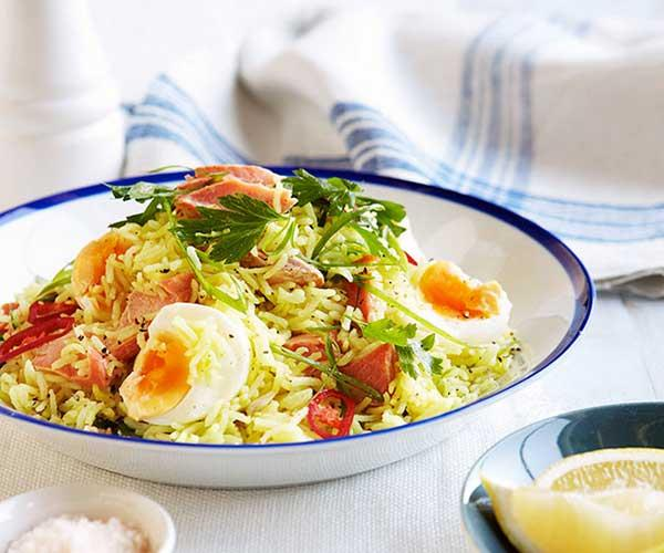"[**Smoked trout kedgeree**](http://www.gourmettraveller.com.au/recipes/fast-recipes/smoked-trout-kedgeree-13310|target=""_blank"")  ""How amazing is it when someone cooks you breakfast at home? This is one of my favourite GT recipes, and I've made it so many times over the years. Although I very much doubt my husband will have time to cook this for me on Valentine's Day morning, a girl can dream!"" - *Pru Engel, deputy editor*"