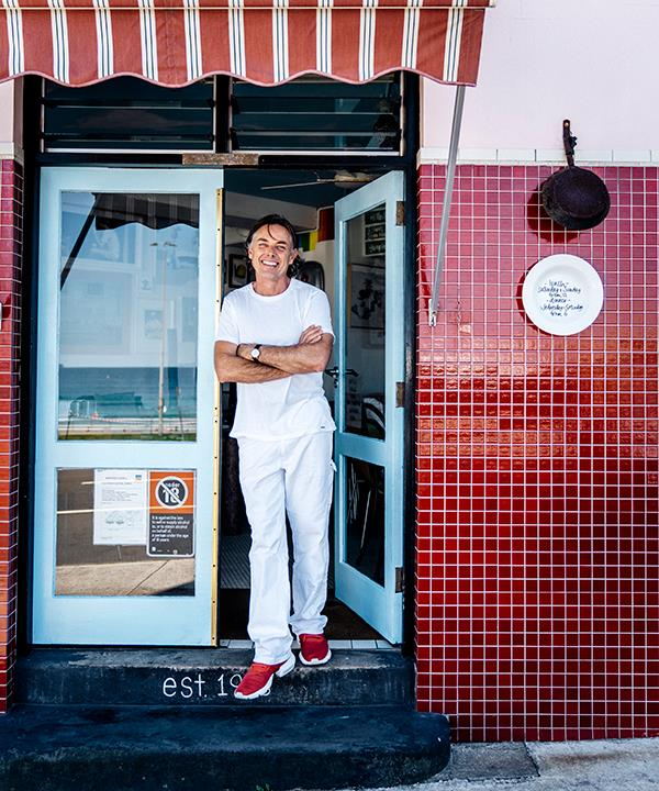 Sean Moran outside his Bondi restaurant, Sean's (Photo: Ben Dearnley)