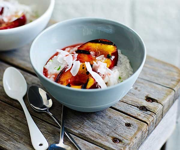 "[**Grilled nectarines with coconut tapioca**](http://www.gourmettraveller.com.au/recipes/fast-recipes/grilled-nectarines-with-coconut-tapioca-13556|target=""_blank"")"