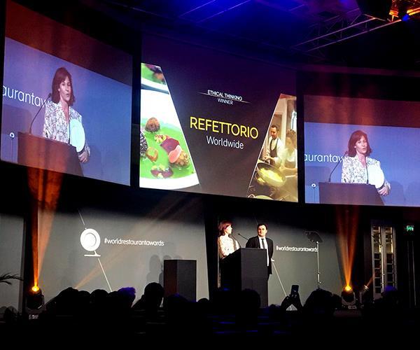 "Massimo Bottura and Lara Gilmore's Refettorio (Food For Soul) won the ""ethical thinking"" category at The World Restaurant Awards (Photo: Josh Niland)"