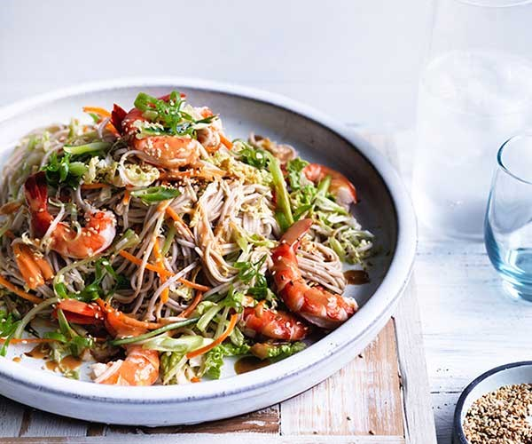 """[Prawn, cabbage and soba noodle salad](http://www.gourmettraveller.com.au/recipes/fast-recipes/prawn-cabbage-and-soba-noodle-salad-13790