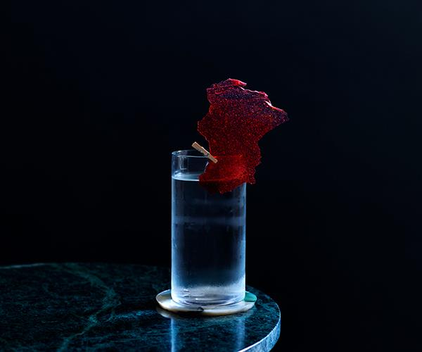 Vodka soda, with strawberry-gum vodka and green-ant soda (Photo: Supplied)