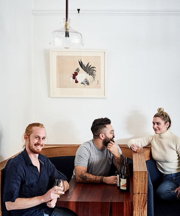Oliver Edwards, co-owner Aaron Fenwick and friend Maddie Skippen (Photo: Mark Roper)