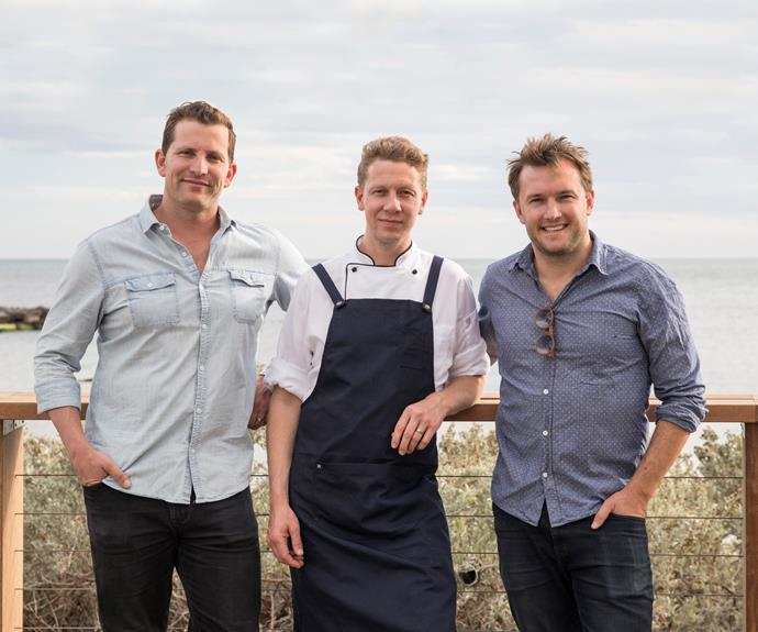 From left: General manager and co-director Alex Brawn, head chef Leigh Robbins and co-director Dave Parker.