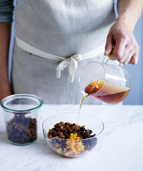Step 1: Soak the dried fruit