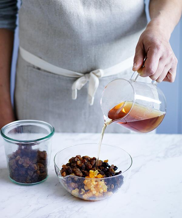 Step 1: Soak the dried fruit