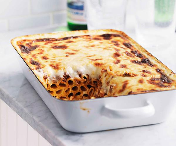 "**[Pasticcio](https://www.gourmettraveller.com.au/recipes/browse-all/pasticcio-10758|target=""_blank"")**"
