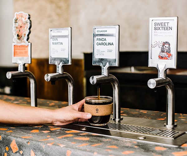 The self-serve batch-brew taps at Single O (Photo: Supplied)