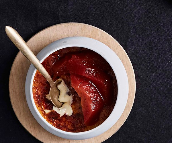 "[**Ramblr's baked muscat and brioche custards with quince**](http://www.gourmettraveller.com.au/recipes/chefs-recipes/ramblrs-baked-muscat-and-brioche-custards-with-quince-9324|target=""_blank"")"