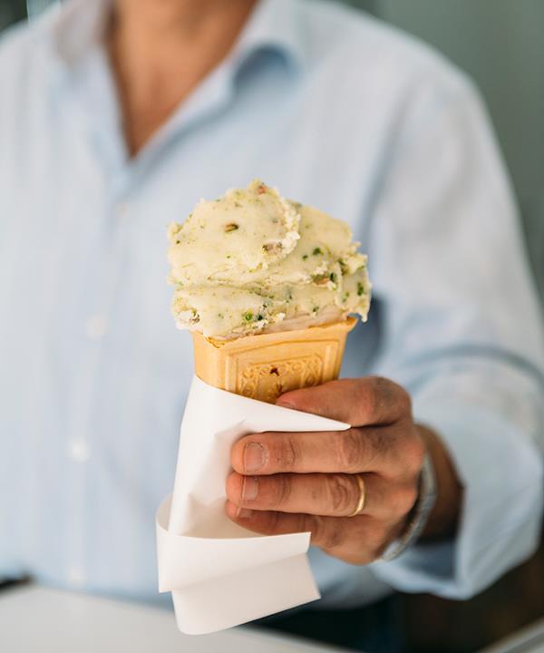 Hanna Mitri's pistachio ice-cream