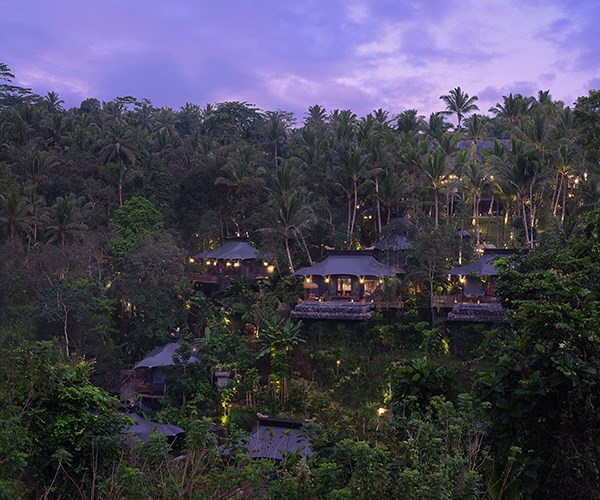 "**Capella Ubud**  Resort designer Bill Bensley has imagined a 19th-century expeditionary camp in the Balinese jungle, set on four hectares of vertiginous rice terraces and rainforest in the Keliki Valley, about 25 minutes' drive north of Ubud. Guests are handed a ""survival kit"" (insect repellent, poncho, ear plugs) and retire to the Officers Tent for apéritifs, then to 22 one-bedroom tents or a two-bedroom lodge, each furnished with playful vintage curios, oversized travelling trunks, private decks and plunge pools. [capellahotels.com](https://www.capellahotels.com/en