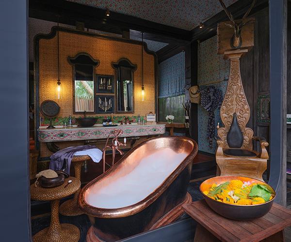 *A tent bathroom at Capella Ubud*