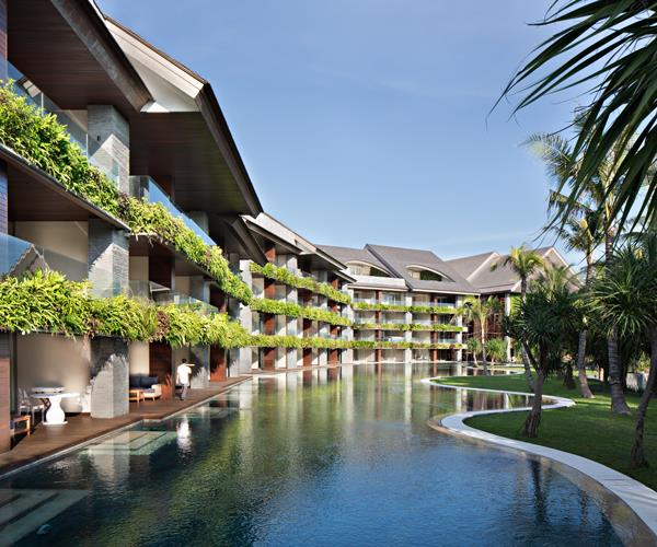 *Balconies overlooking the central lagoon pool*