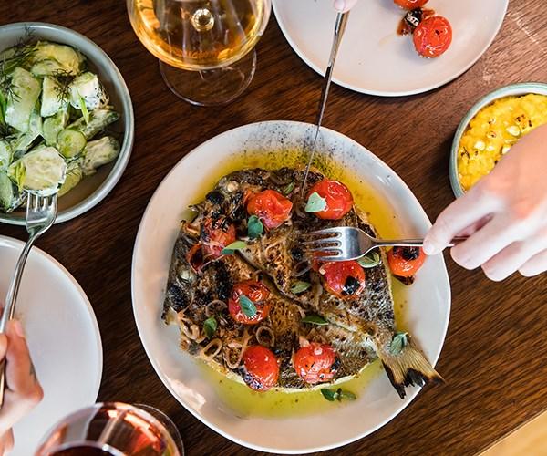 Butterflied sea bream, tomato, oregano (Photo: Nikki To)