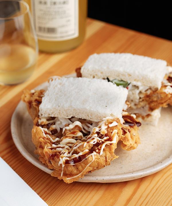 The pork katsu sando at Shobosho.
