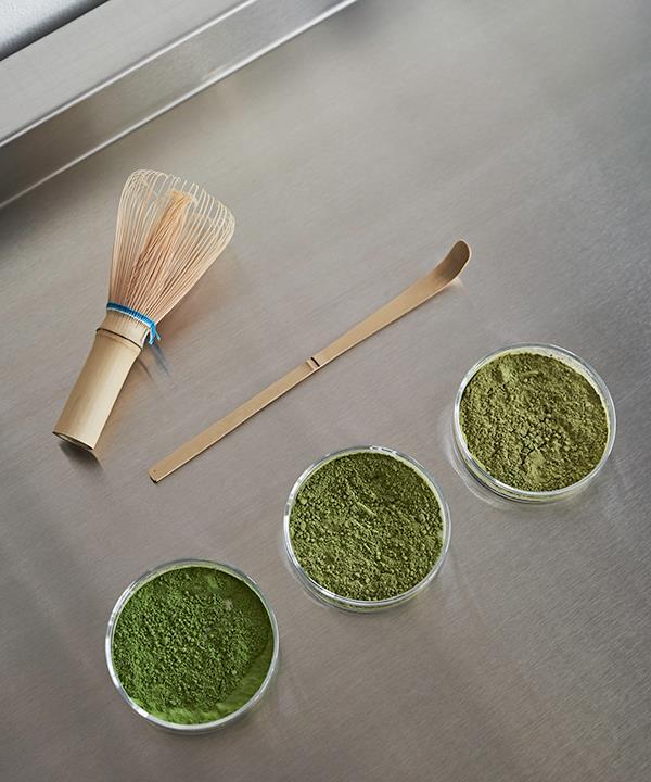 Matcha tea powders at Harvest Index.
