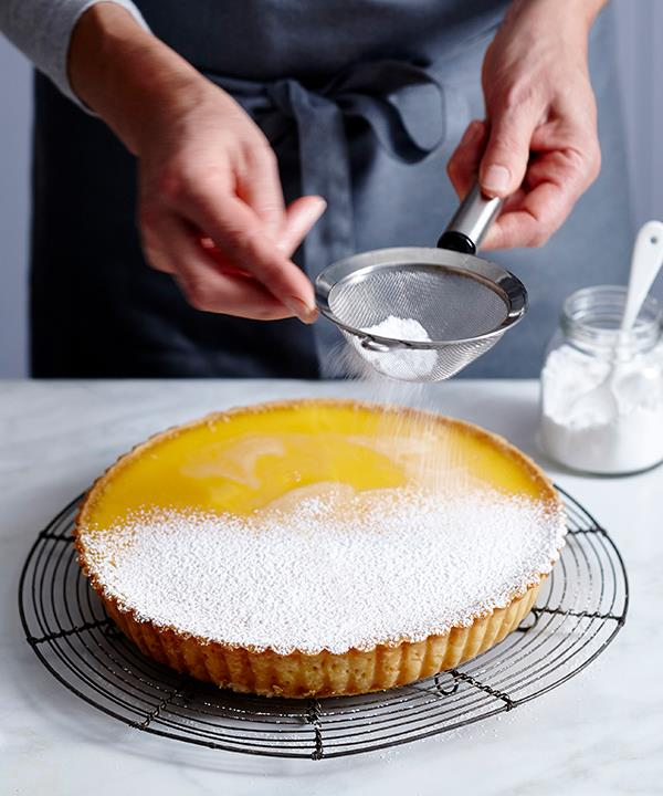 Let the tart cool in the tin, and it eat it on the day it's made