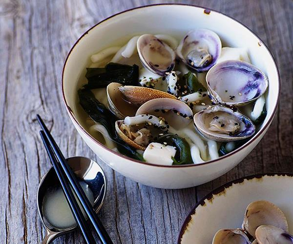 """[**Miso clams with udon**](https://www.gourmettraveller.com.au/recipes/browse-all/miso-clams-with-udon-9738