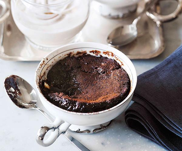 "**[Chocolate-chestnut self-saucing puddings](https://www.gourmettraveller.com.au/recipes/browse-all/chocolate-chestnut-self-saucing-puddings-10479|target=""_blank"")**"