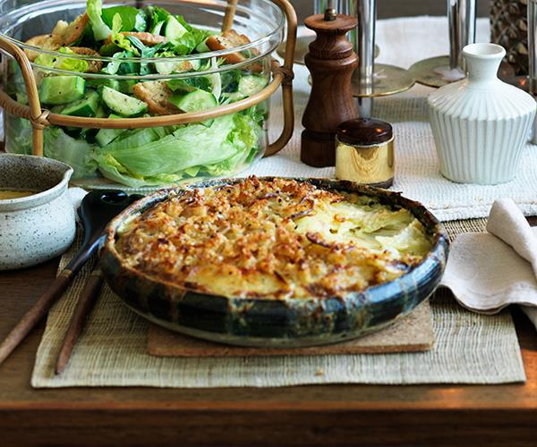 "**[Potato gratin with parmesan crumb](https://www.gourmettraveller.com.au/recipes/browse-all/potato-gratin-with-parmesan-crumb-12615|target=""_blank"")**"