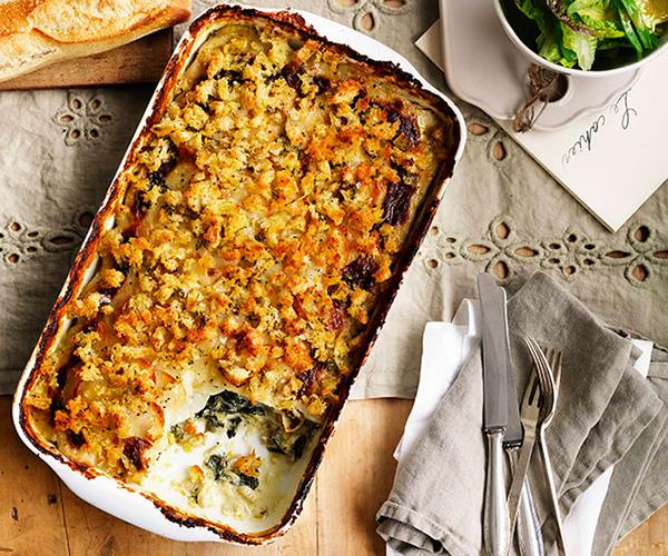"**[Potato, leek and silverbeet gratin](https://www.gourmettraveller.com.au/recipes/browse-all/potato-leek-and-silverbeet-gratin-11015|target=""_blank"")**"