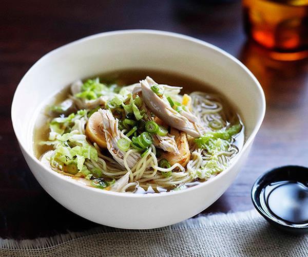 "**[Brigitte Hafner's chicken noodle soup](https://www.gourmettraveller.com.au/recipes/chefs-recipes/brigitte-hafner-chicken-noodle-soup-7403|target=""_blank"")**"