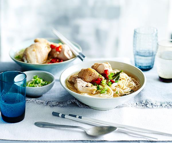 "**[Drunken chicken with Shandong ramen noodles](https://www.gourmettraveller.com.au/recipes/fast-recipes/drunken-chicken-with-shandong-ramen-noodles-13470|target=""_blank"")**"