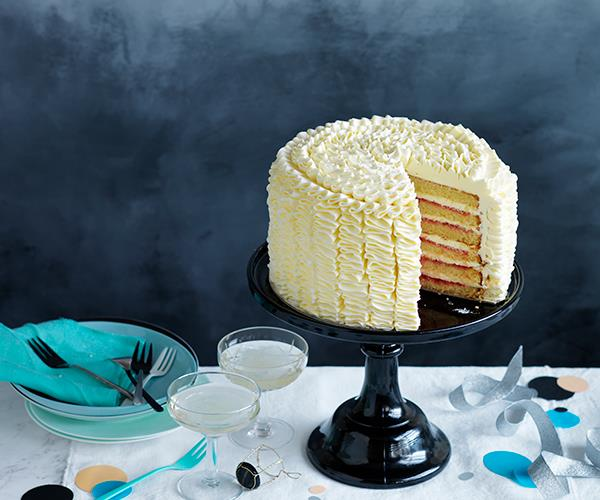 Vanilla-rose layer cake recipe