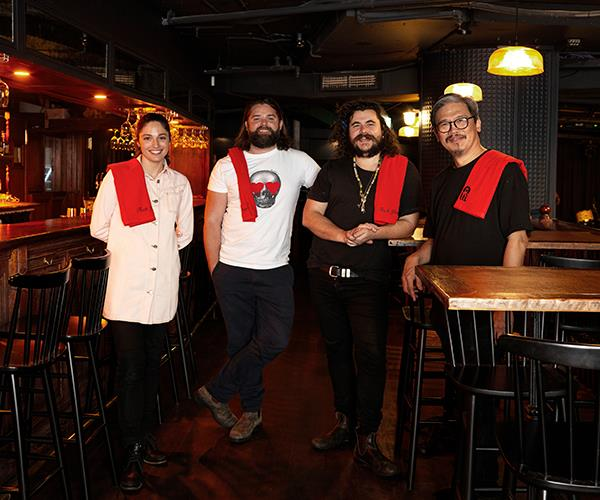 (From left) Mary's wine director Caitlyn Rees, co-owners Kenny Graham and Jake Smyth and sommelier Charles Leong.