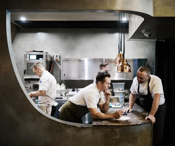 McIver and Bickford in the Amaru kitchen.