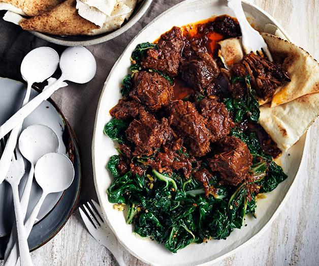 "[**Berbere beef stew and spiced silverbeet**](http://www.gourmettraveller.com.au/recipes/browse-all/berbere-beef-stew-and-spiced-silverbeet-11754|target=""_blank"")"