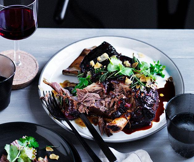 "[**Rick Shores' slow roasted lamb shoulder with yellow bean, cumin and chilli**](https://www.gourmettraveller.com.au/recipes/chefs-recipes/rick-shores-slow-roasted-lamb-shoulder-with-yellow-bean-cumin-and-chilli-9274|target=""_blank"")"