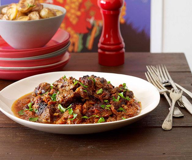 "[**Pyrénées-style slow-cooked lamb with sherry and paprika**](https://www.gourmettraveller.com.au/recipes/chefs-recipes/pyrenees-style-slow-cooked-lamb-with-sherry-and-paprika-8863|target=""_blank"")"