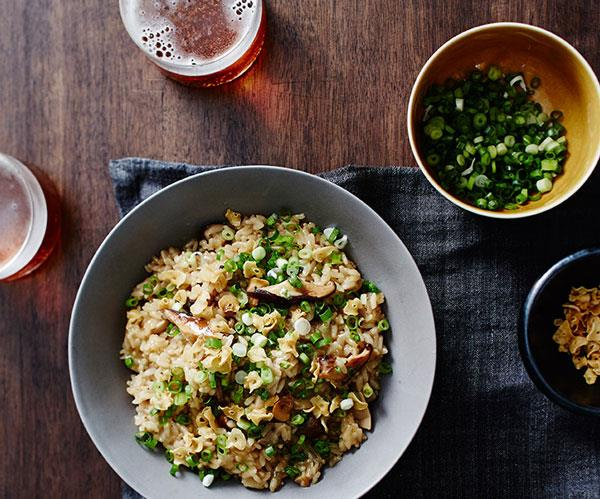 "**[Yardbird's mushroom rice](https://www.gourmettraveller.com.au/recipes/chefs-recipes/yardbirds-mushroom-rice-9310|target=""_blank"")**"