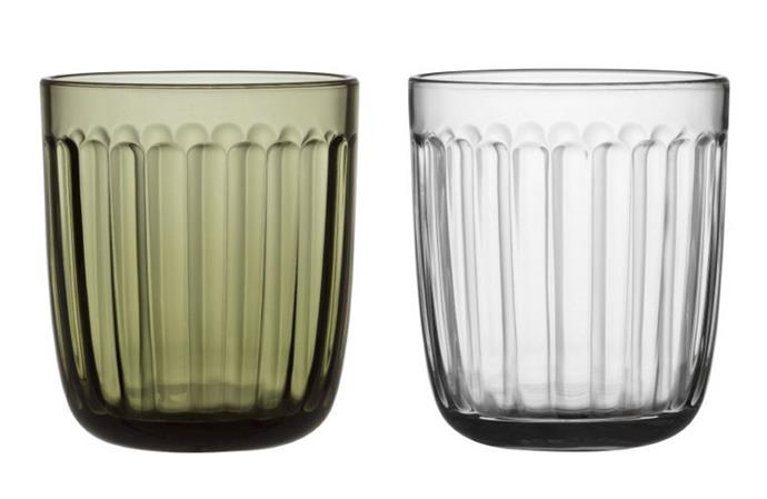 "**Iittala:** Grounded in the Nordic values of durability, functionality and reliability, Iittala is an iconic Scandinavian design mainstay. Founded in the small Finnish town of Iittala in 1881, the brand began as a glass factory before expanding into hand-crafted homewares.  <br> <br> A sustainable approach to manufacturing and distribution has remained intrinsic to the Iittala DNA. Designed by Jasper Morrison, the Raami dining collection was complemented with a new limited-edition recycled glass tumbler. Iittala became the first industrial manufacturer to create a tumbler solely from waste glass.  <br> <br> $29.95, [iittala.com.au](https://www.iittala.com.au/raami-tumbler-pair-moss-green.html|target=""_blank""