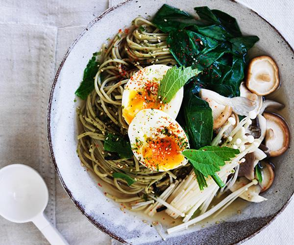 "**[Matcha noodles with miso broth and soft egg](https://www.gourmettraveller.com.au/recipes/browse-all/matcha-noodles-with-miso-broth-and-soft-egg-12764|target=""_blank"")**"