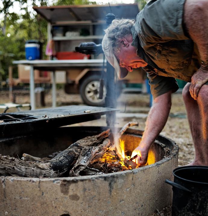 Breakfast campfire