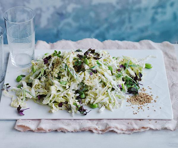 "**[Japanese cabbage salad](http://www.gourmettraveller.com.au/recipes/browse-all/japanese-cabbage-salad-12169|target=""_blank"")**"